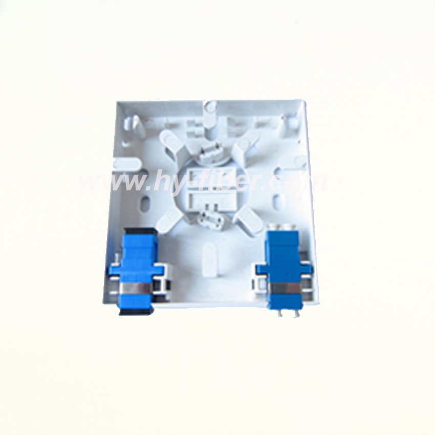 Ftth terminal wall outlet 8686 style desktop box 2 fiber port ftth wall outlet box 2 port sciox Choice Image