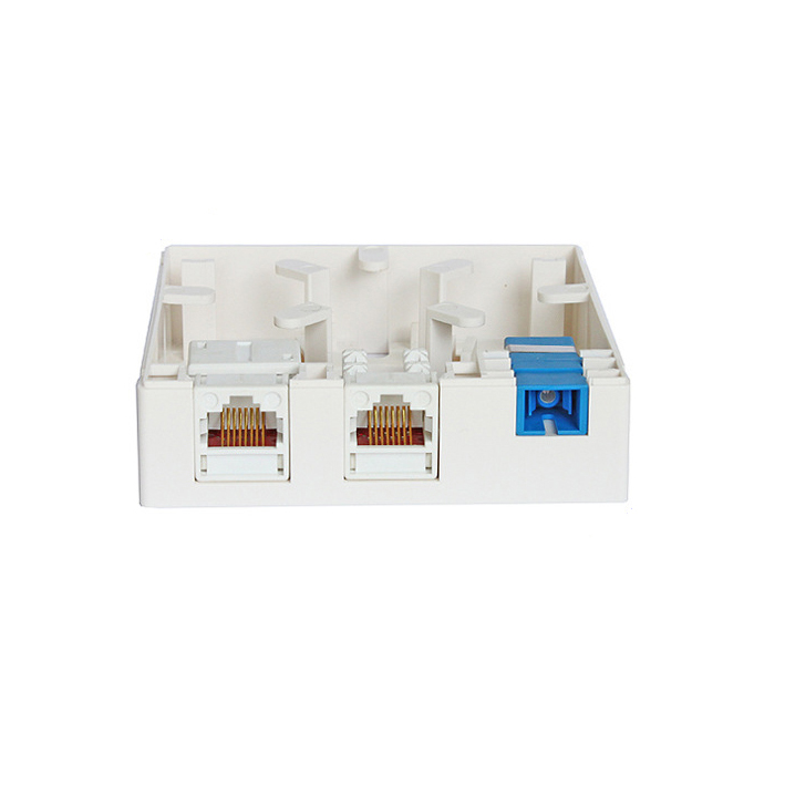 Ftth Terminal Box Wall Outlet 8686 Series 1 Fiber Junction